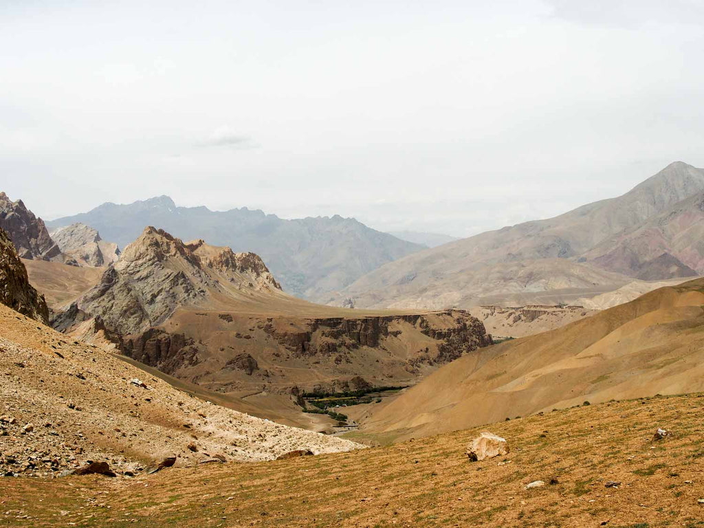 Trekking in Ladakh from Gyal to Kanji, Looking back at Gyal valley