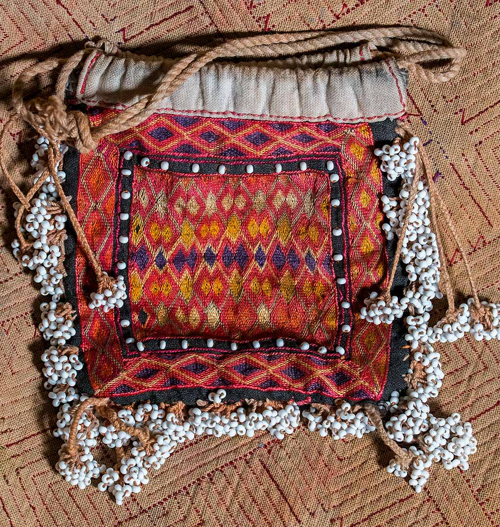 Embroidered Afghan Purse