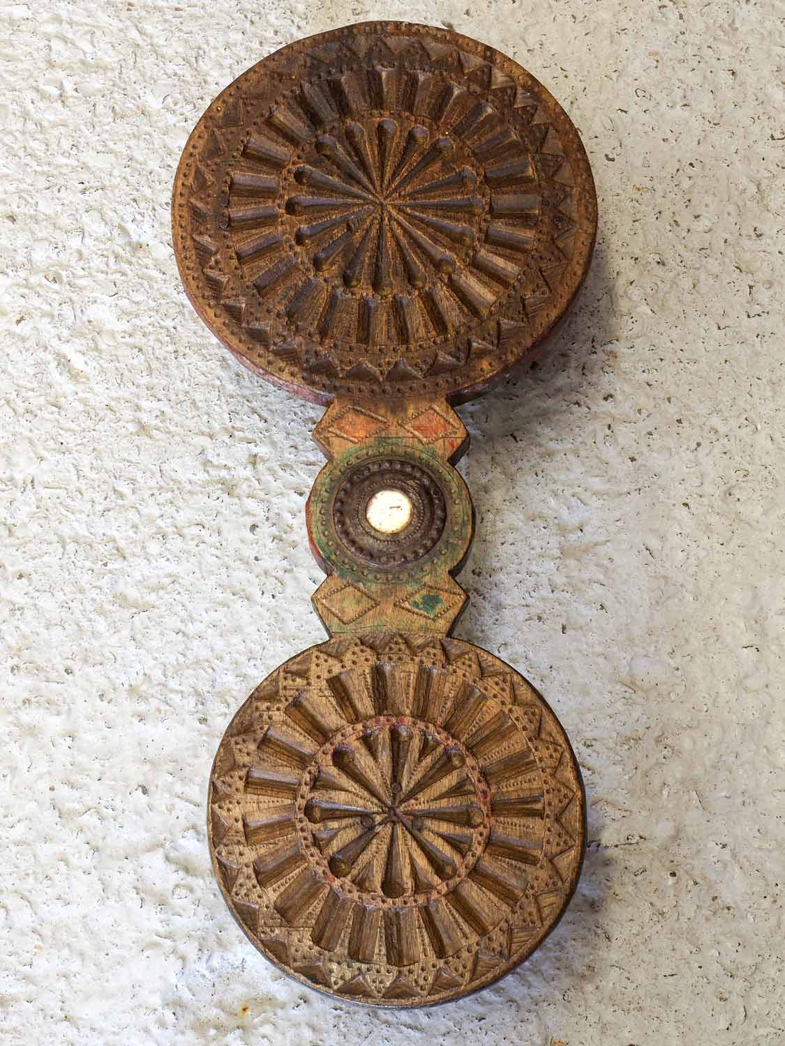 Carved Wooden Chapati Stands