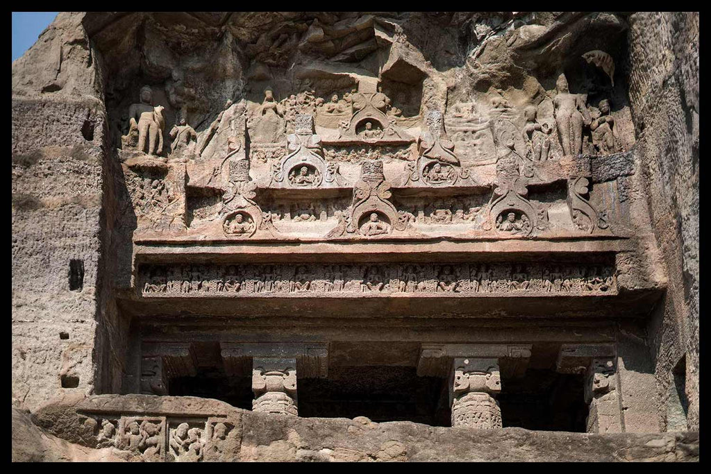 Carved Portico over Cave 8 at Ellora