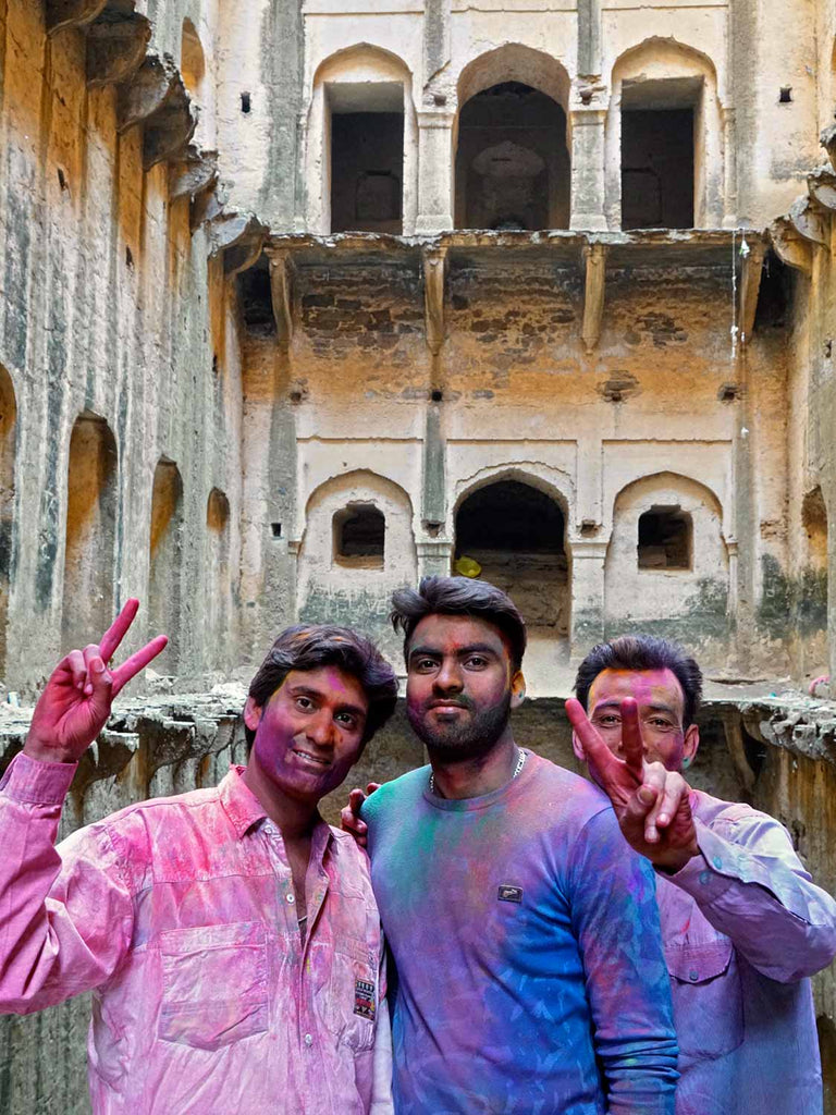 We've had a drink at Neemrana to celebrate Holi