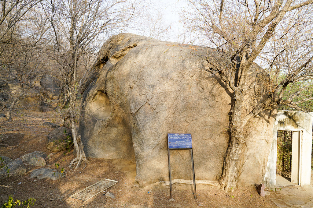 Ashoka's Elephant Rock, without edicts