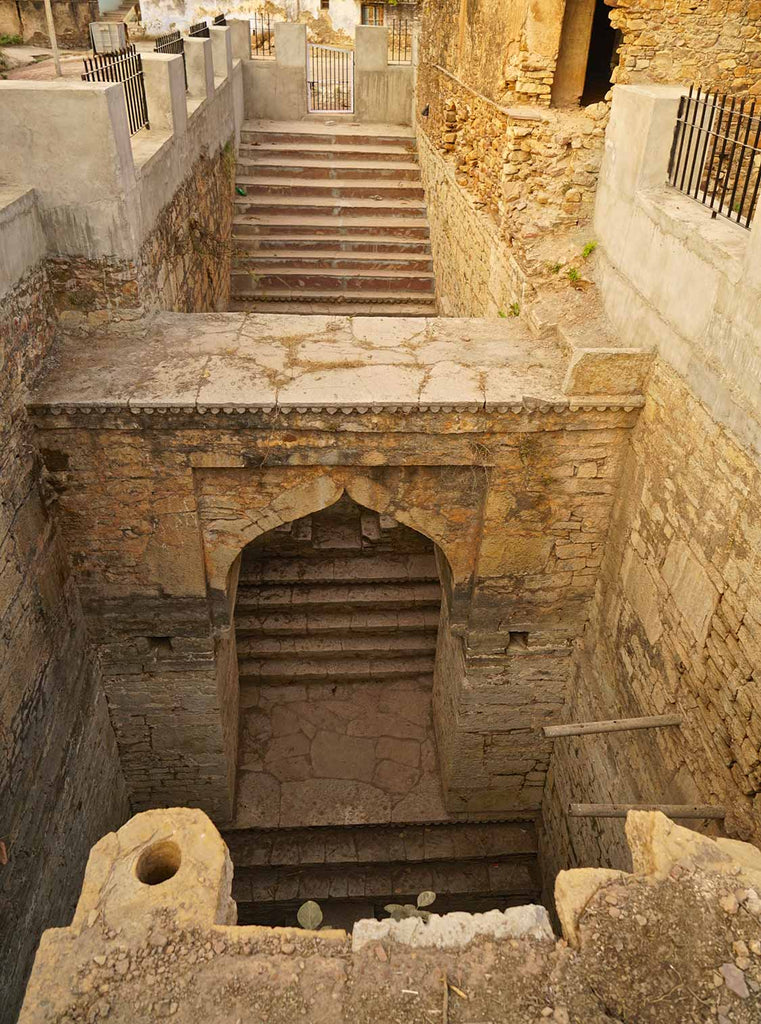 One of a pair of wells at Indargarh