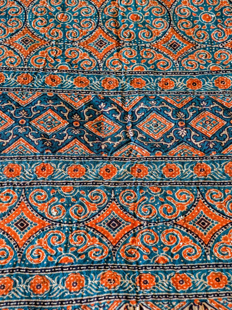 Indigo and Madder Ajrak Bedspread
