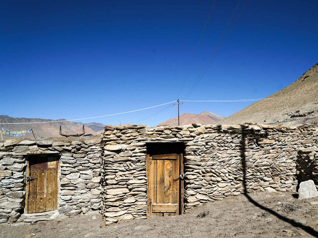 Fine walling at Thugde village, Ladakh