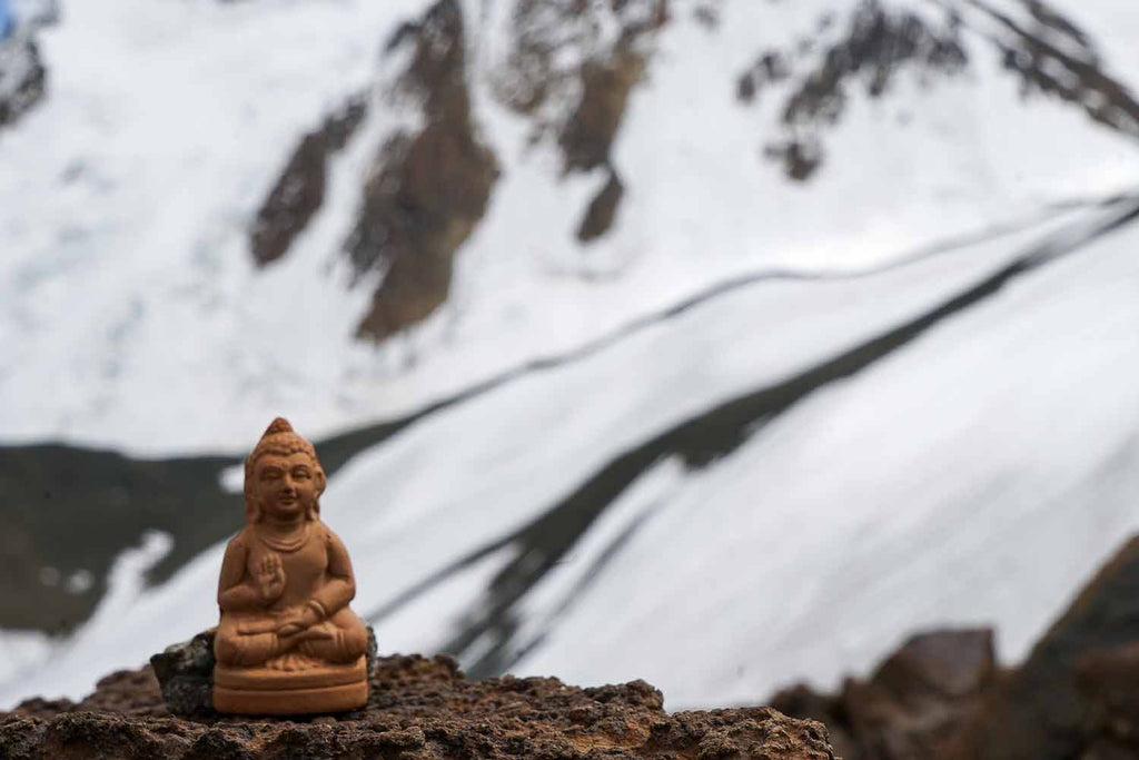 Our Small Buddha Statue in front of Chomotang