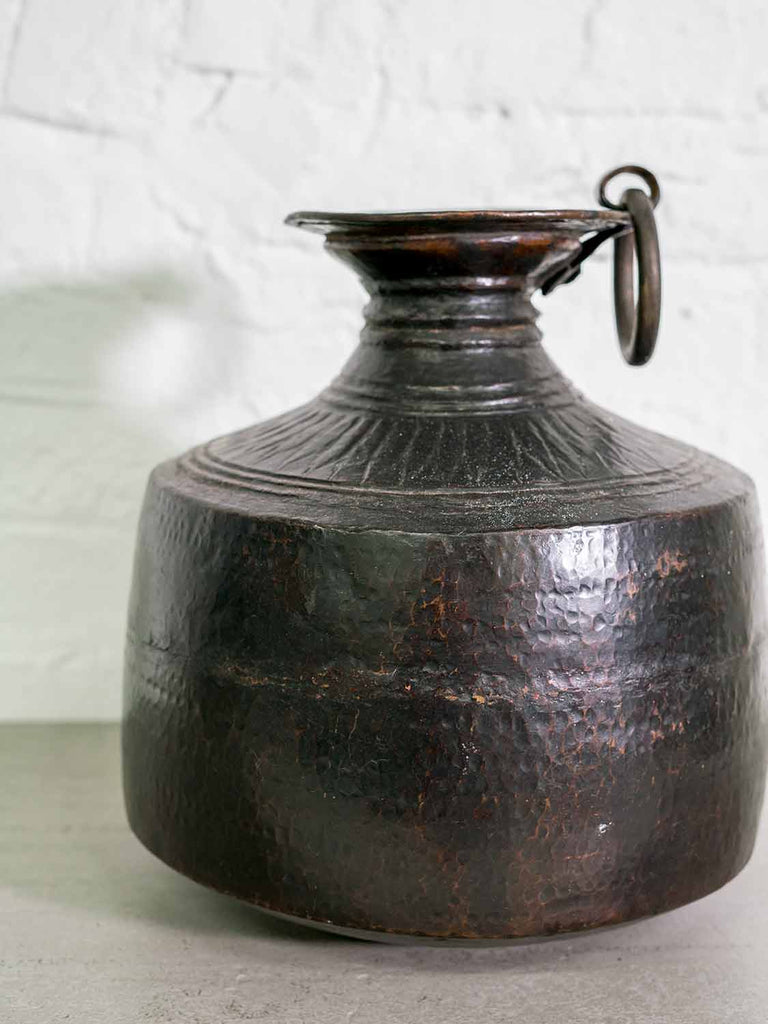 Blackened Copper Water Pot