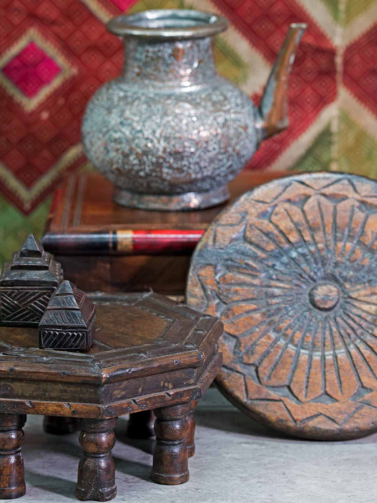 Small Octagonal Indian Wooden Table