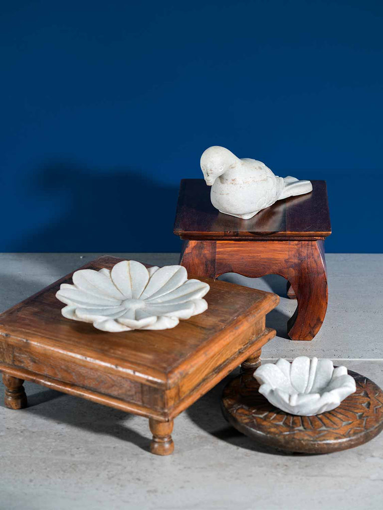 Low Wooden Table and Small Opium Table