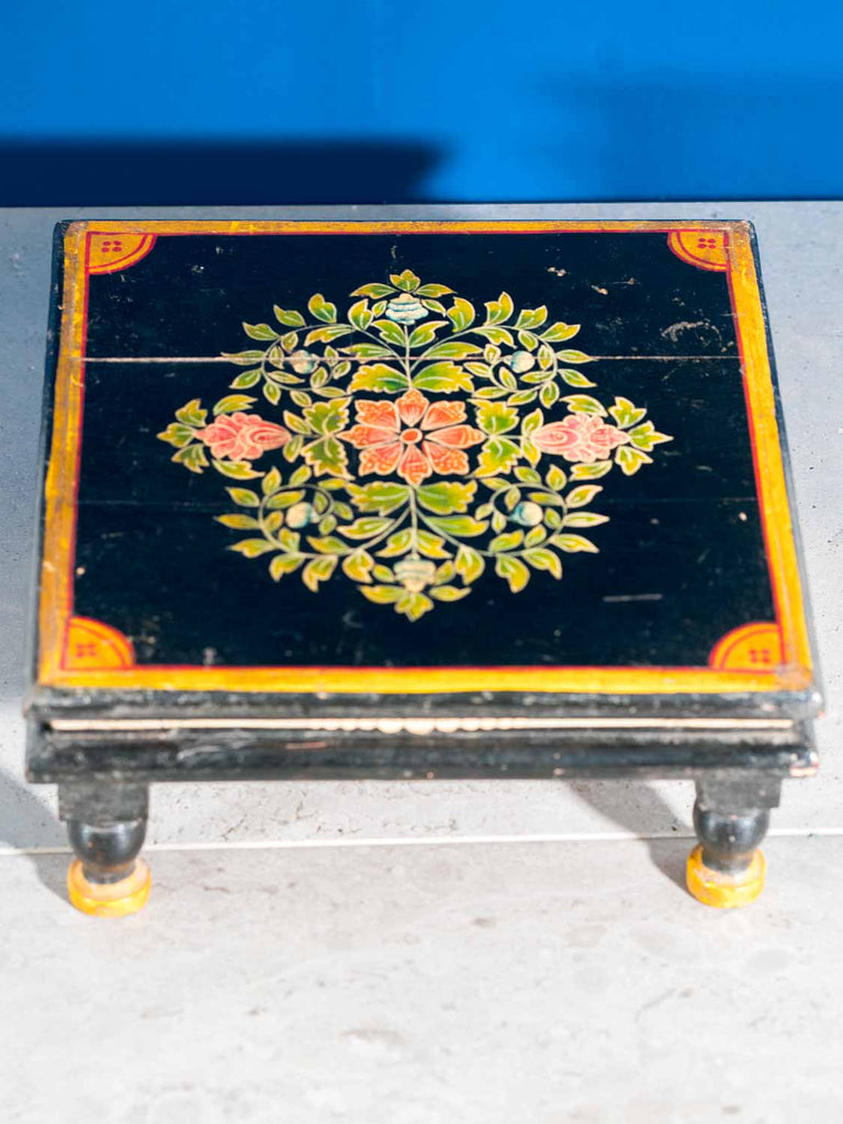 Painted Low Wooden Indian Table