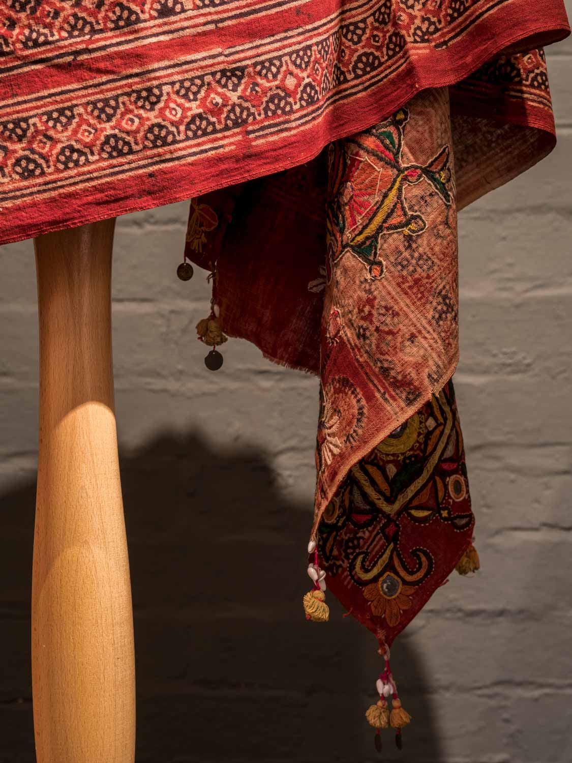 Embroidered Wedding Shawl, Malir, from Rajasthan, detail