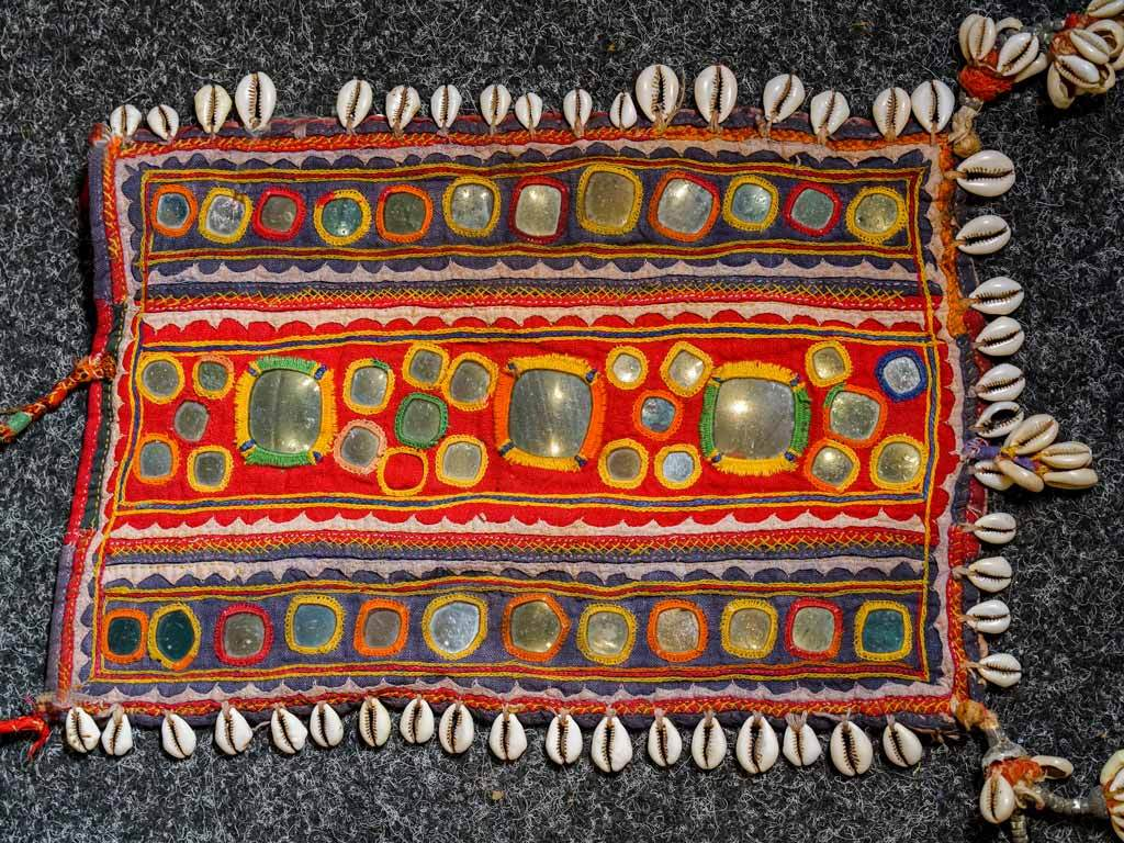 Embroidered Dowry Piece with Cowrie Shells