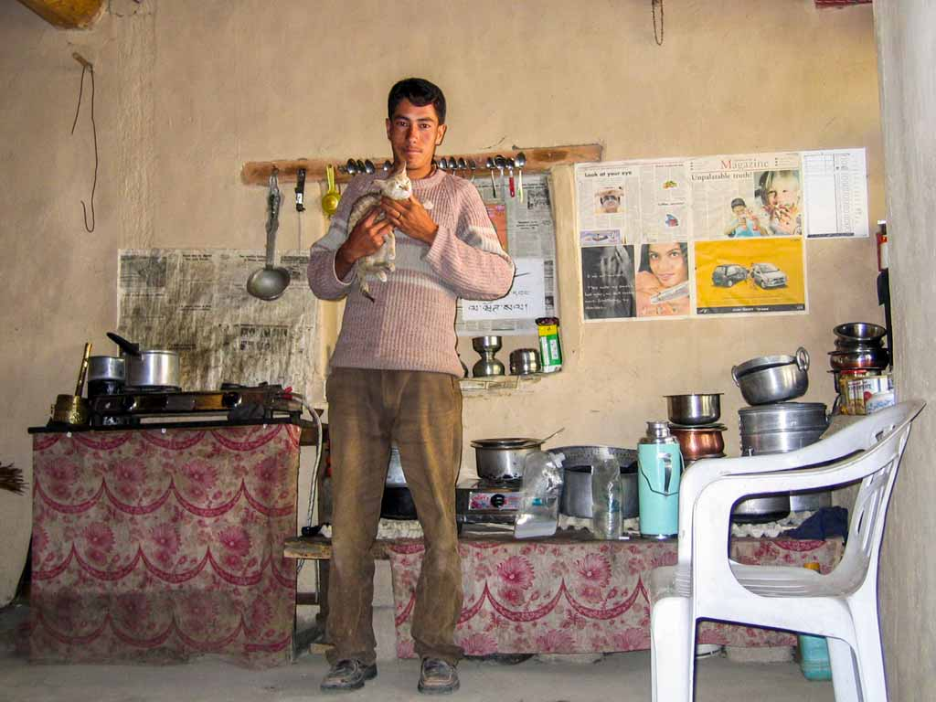 in the kitchen of a house in the Sham district
