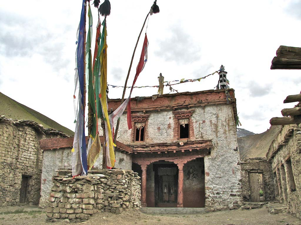 the gompa at dat, ladakh