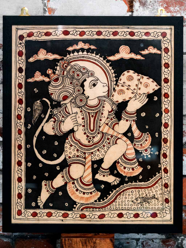 Kalamkari painting of Hanuman
