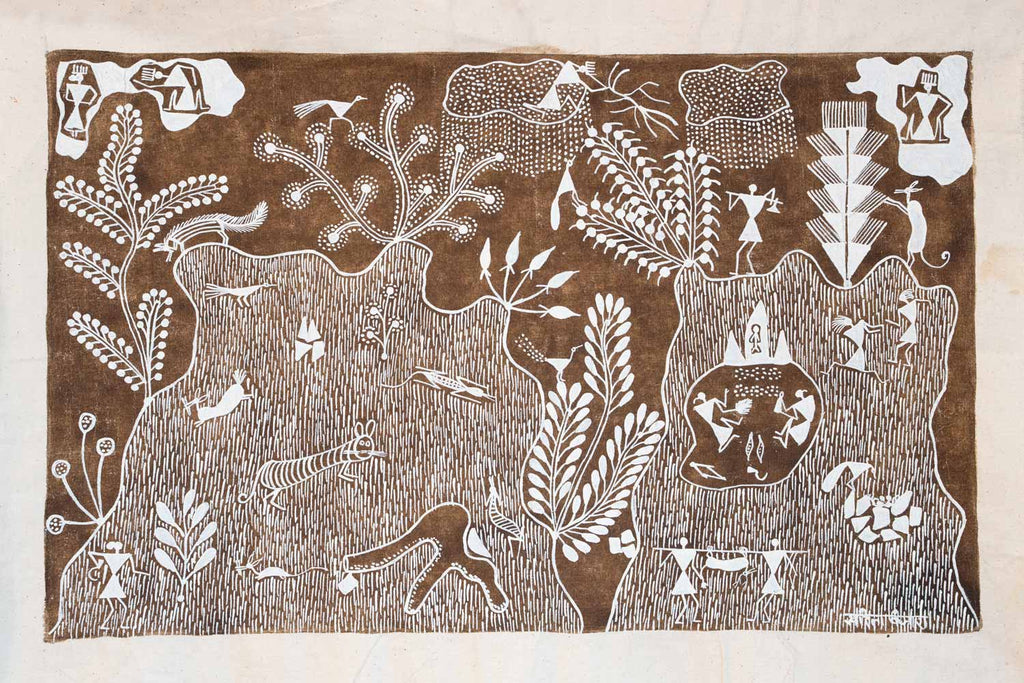 Mysterious Warli Painting of Dream States
