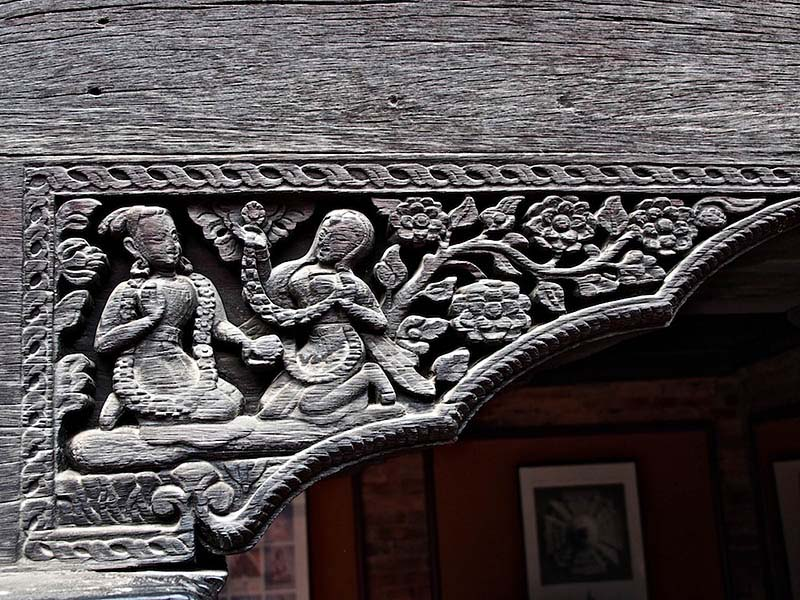 Wooden Archway Carving Patan