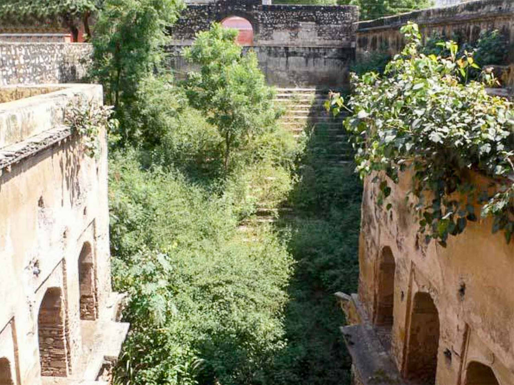 Bani das ki Bawari stepwell before restoration