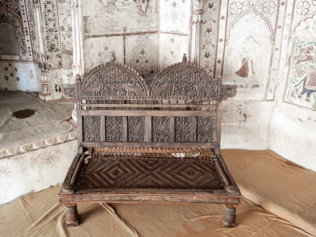 Old carved chair, Shekawati. Silk Road Gallery