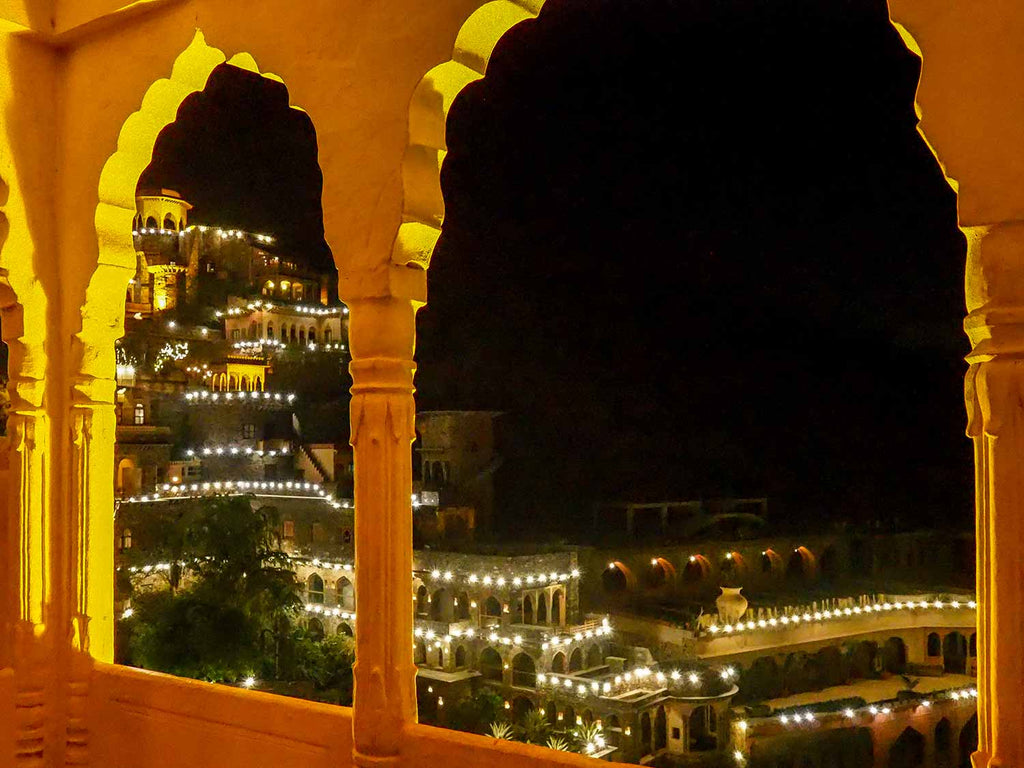 View of Neemrana from one of its many balconies