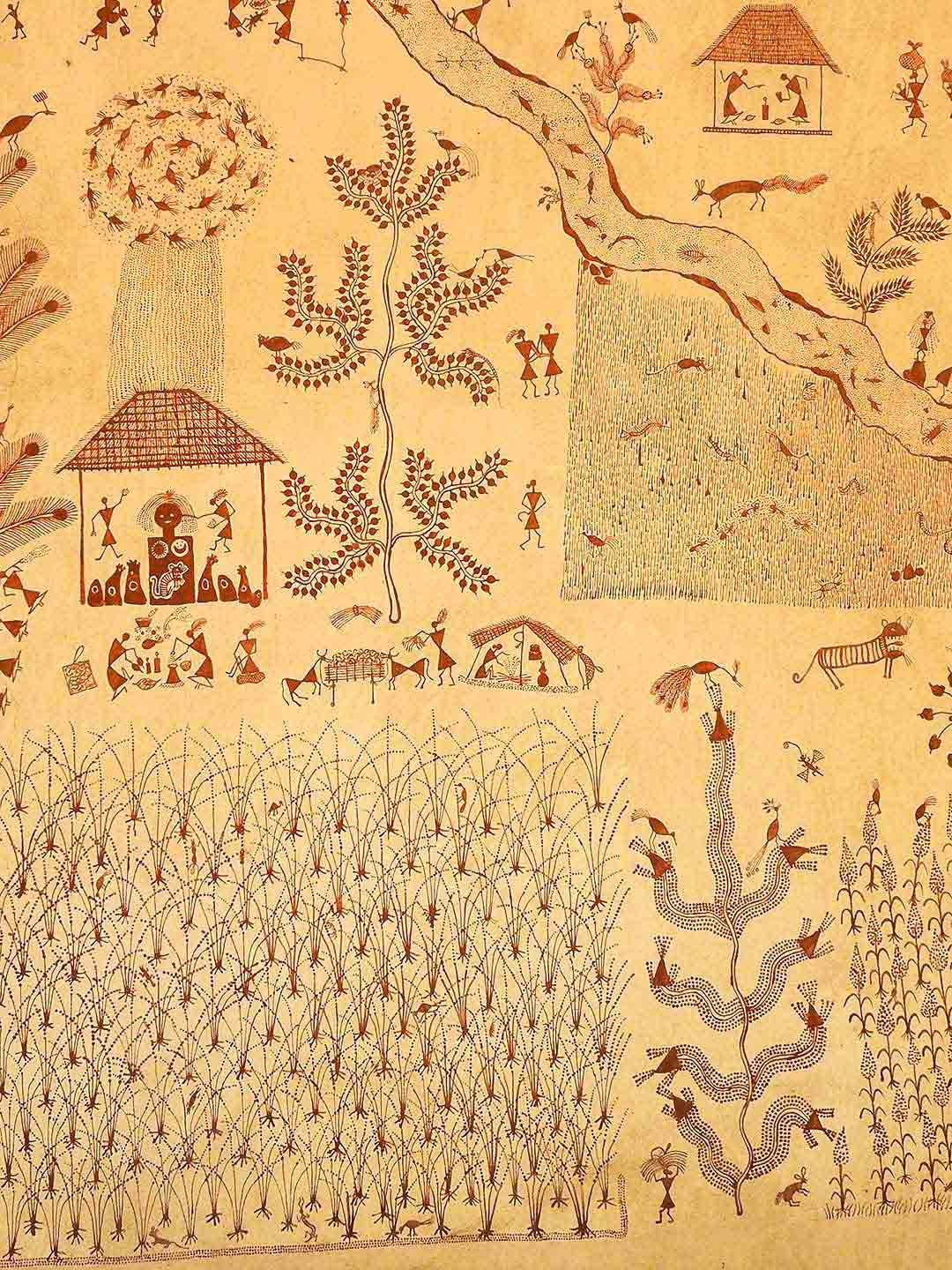 Warli Painting at the Crafts Museum, Delhi