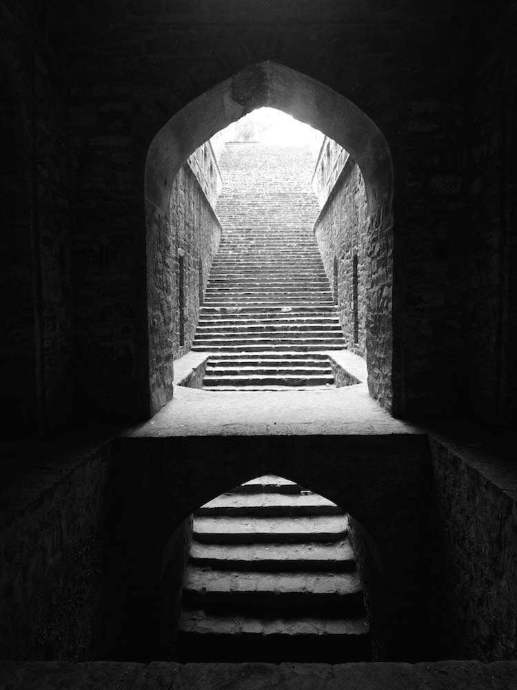 Stepwell in the centre of New Delhi