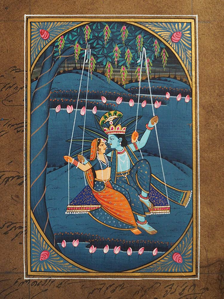 Indian Miniature Painting of Krishna