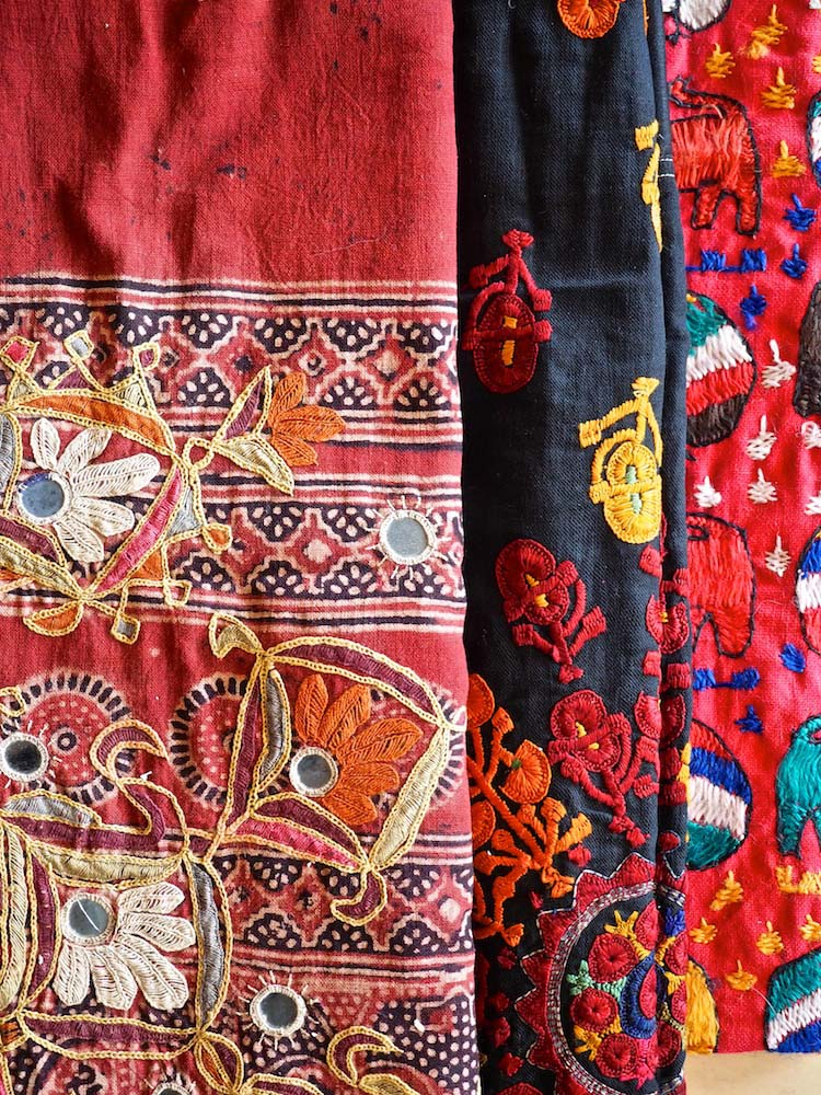 Embroidered hangings from Gujarat