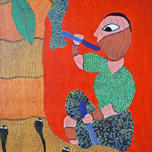Gond Tribal Painting from India