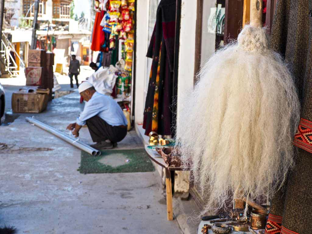 Yak tails for sale, Leh bazaar, Ladakh