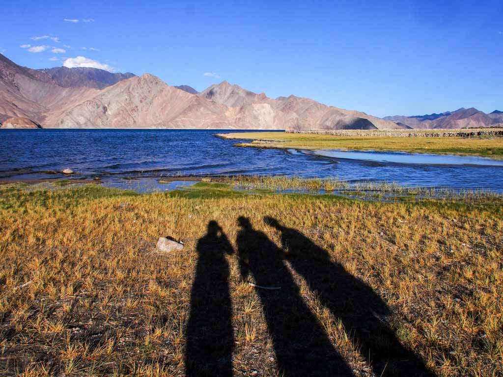 Late afternoon shadows, Merak, Pangong Tso