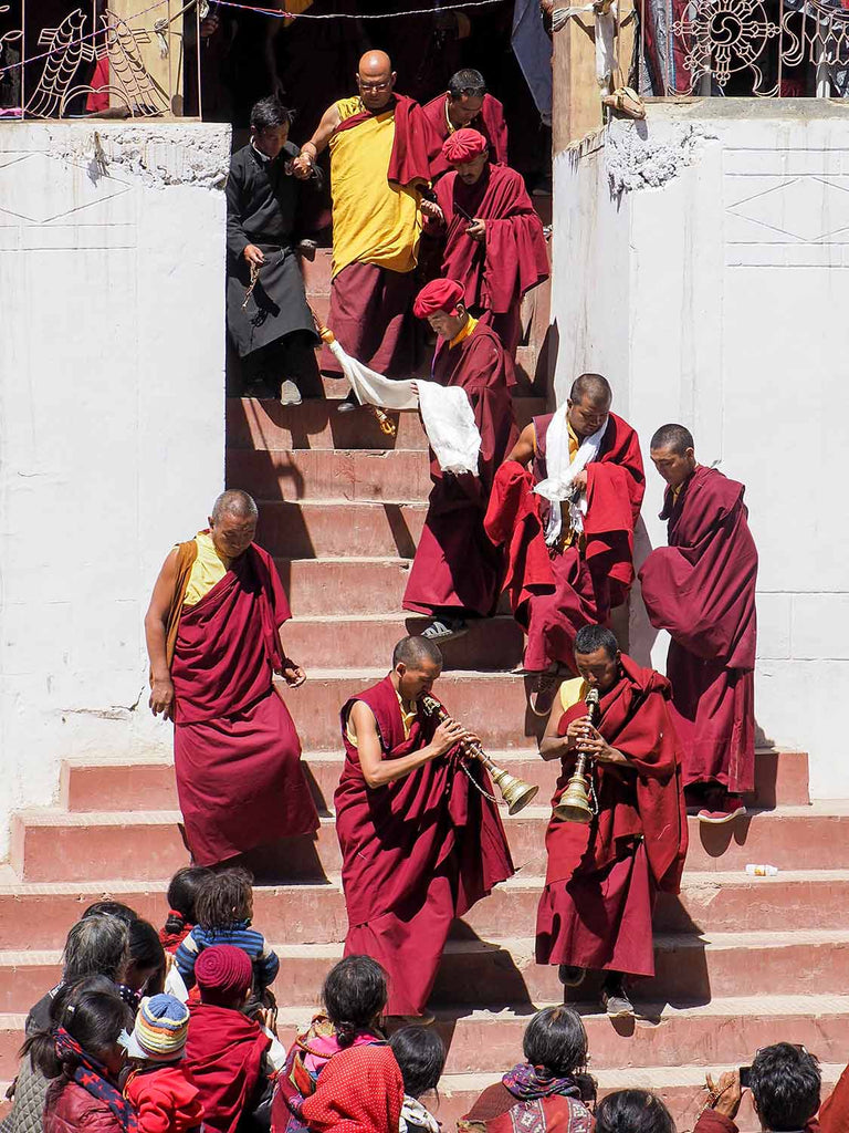 Make way for the Rinpoche, Korzok monastery