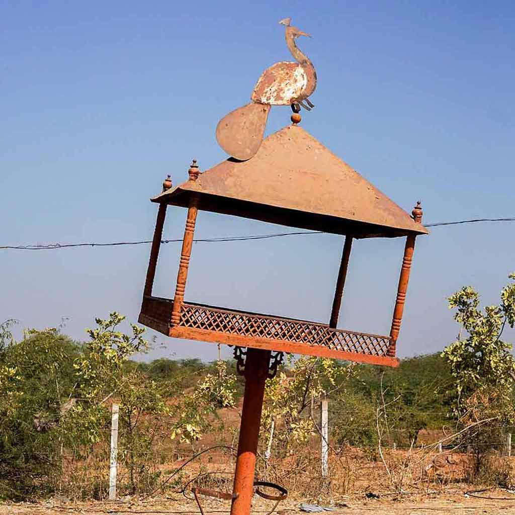Peacock bird table, Gujarat