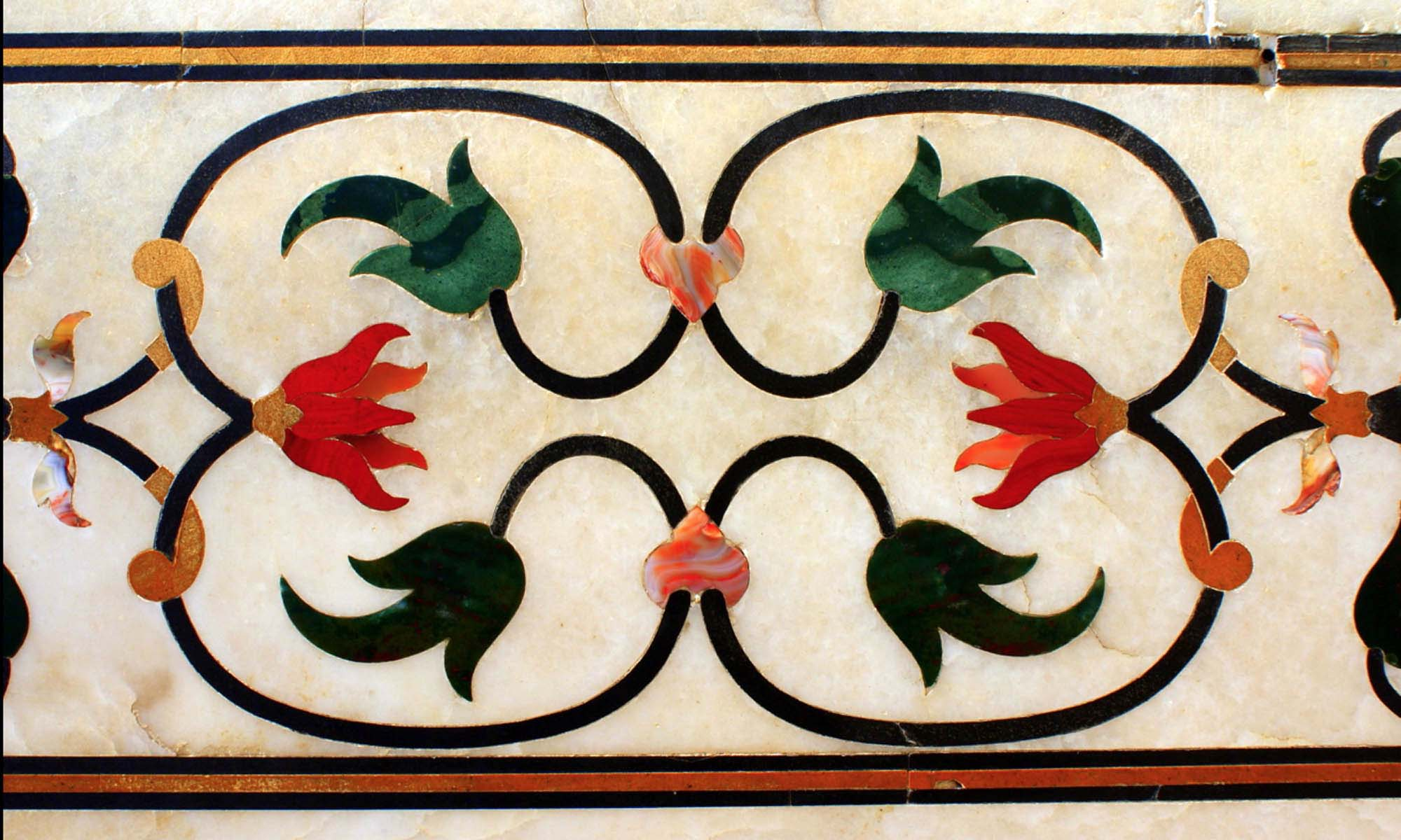 Inlaid Gemstones at the Taj Mahal