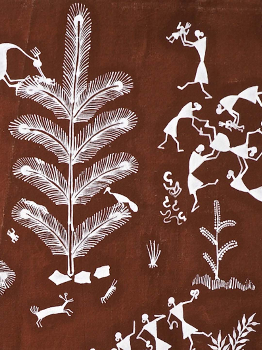 Warli Painting of a Woman giving Birth
