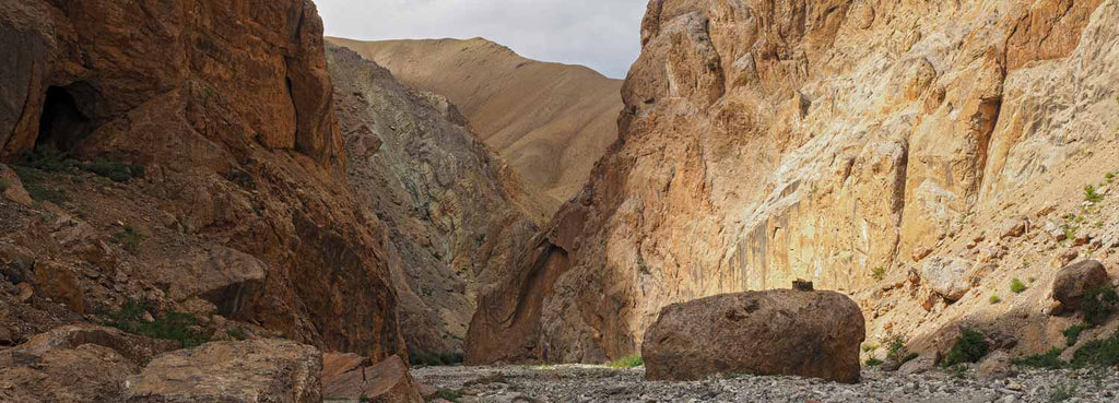 Trekking in Ladakh, the canyon below the Timti La