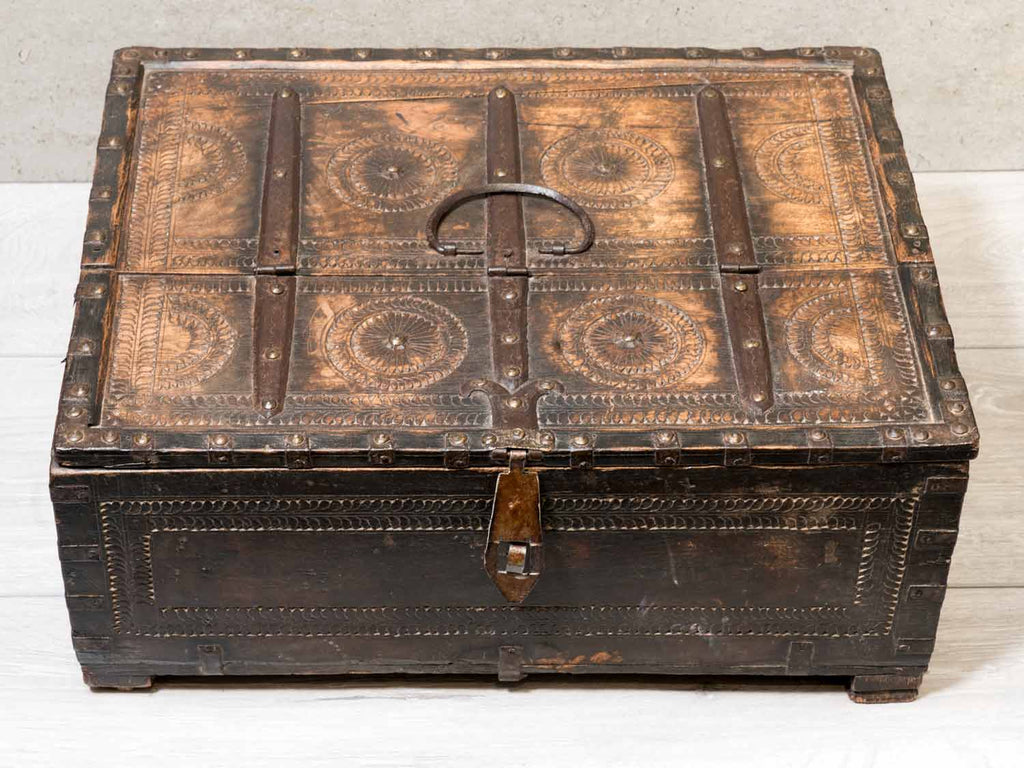 Indian dowry Box with Carvings