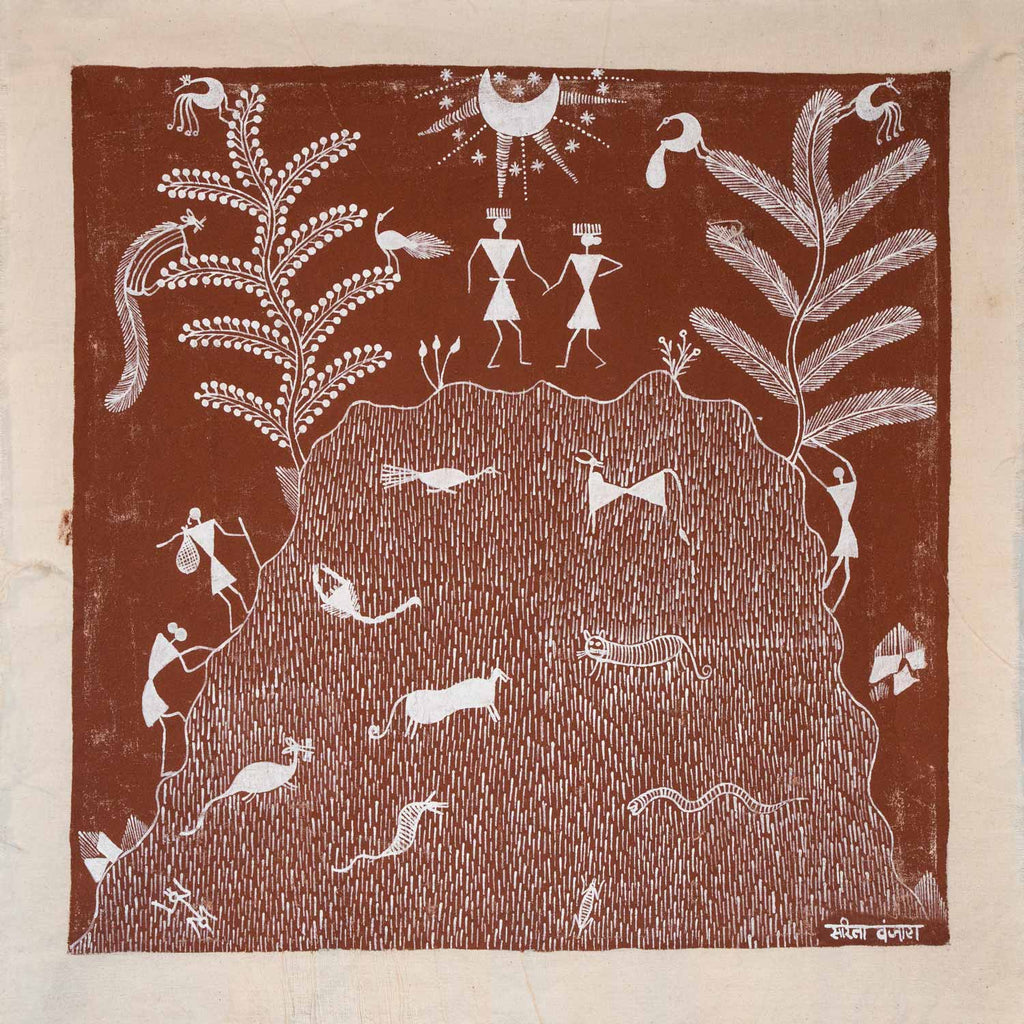 Warli Painting of an Eclipse