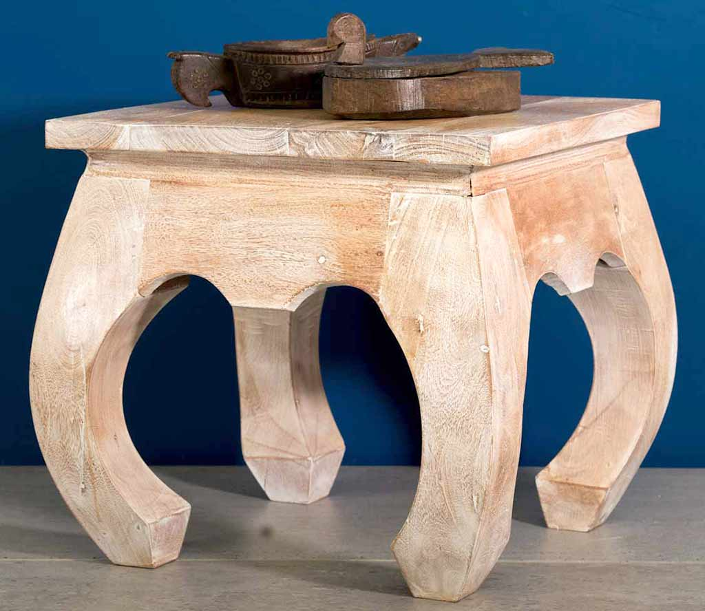 White washed Opium Table