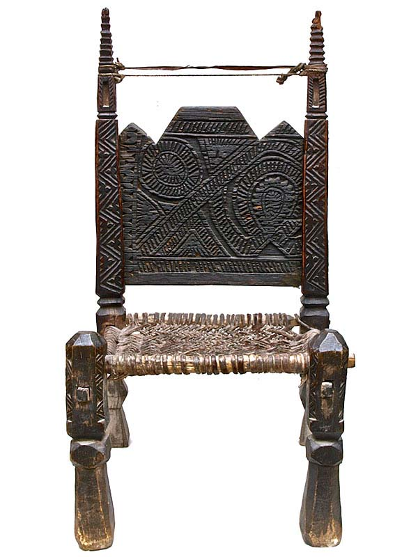 carved wooden afghan chair3
