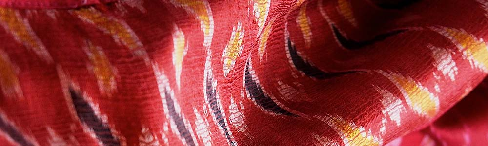 ikat weaving detail