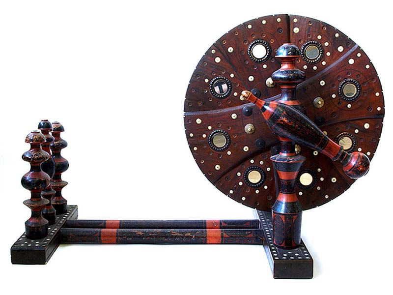 indian antique spinning wheel