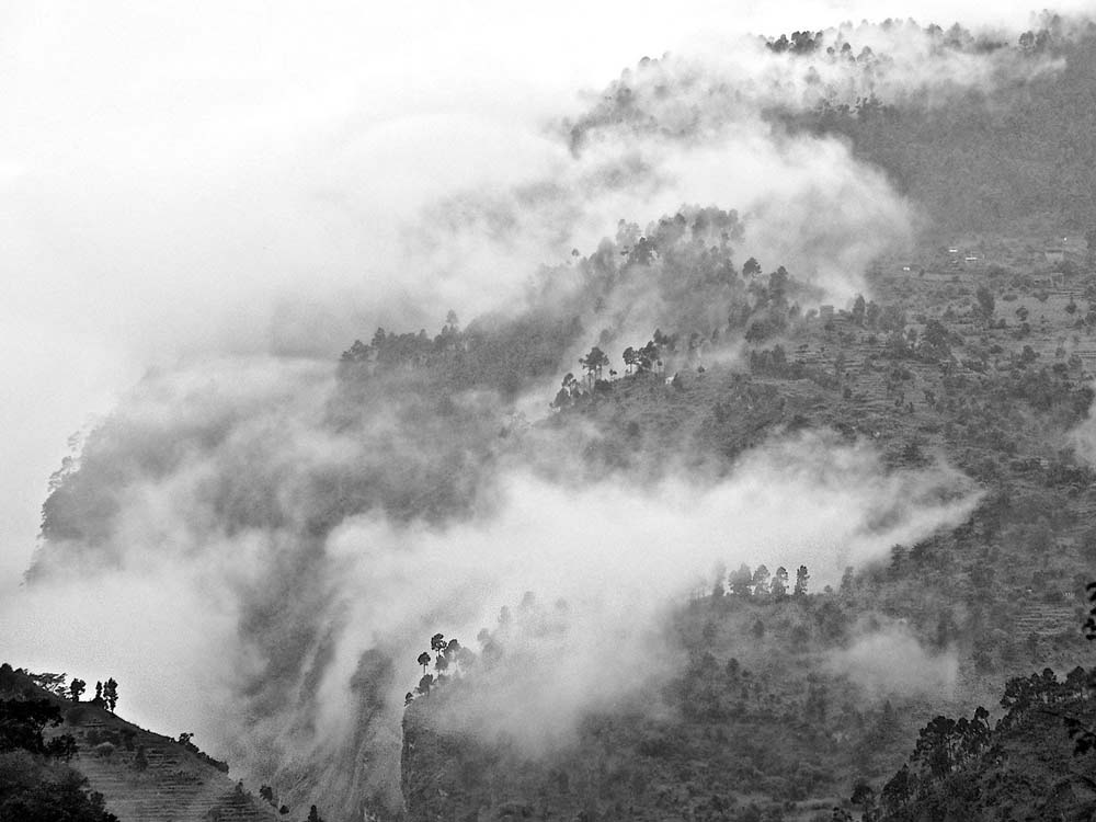 monsoon clouds, nepal