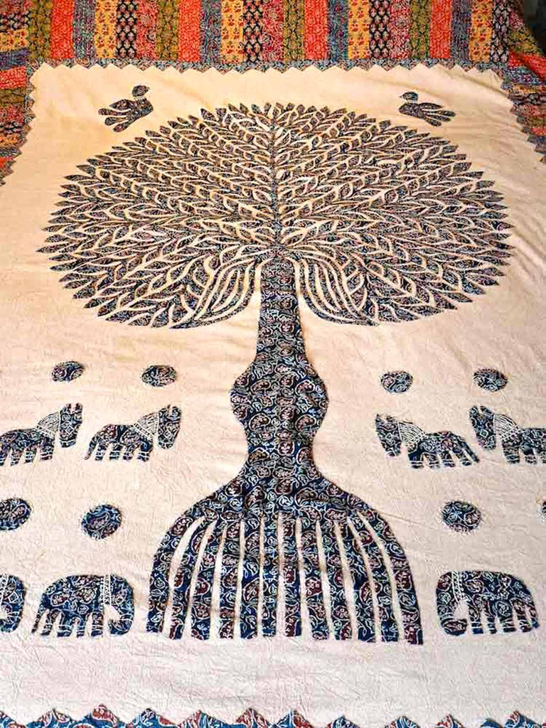 Appliqued Tree of Life Bedspread