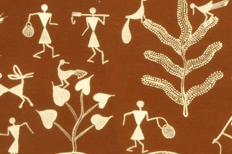 warli painting detail