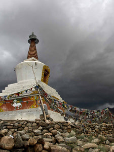 Nezer Stupa and Storm Clouds, Leh | Photos of Ladakh