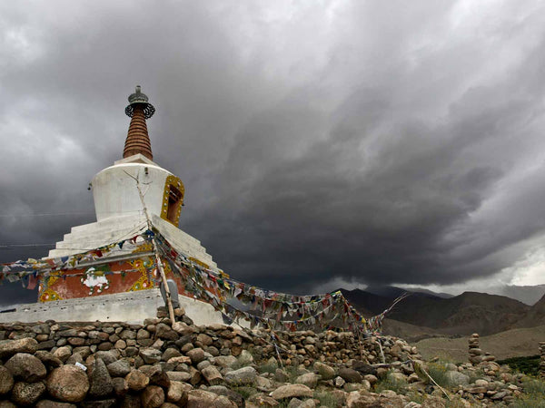 Nezer Stupa and Storm Clouds, Leh | Photos of Ladakh 1