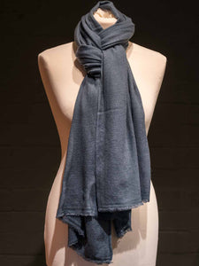 Cashmere Scarf - Air Force Blue