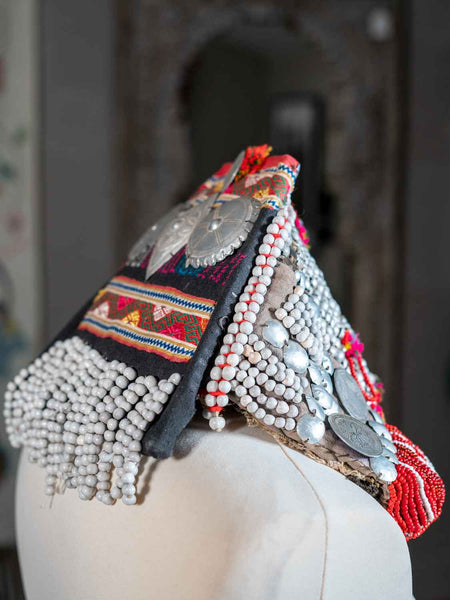 Embroidered Akha Tribal Hat from Thailand