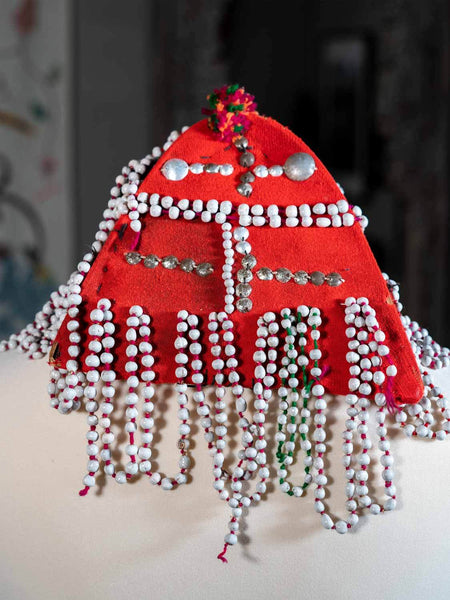 Beaded Akha Tribal Hat from Thailand